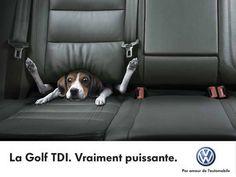 """""""La Golf TDI. Vraiment puissante."""""""