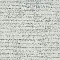 "Tissuestock Printed 12""X12""- French Script Ivory"