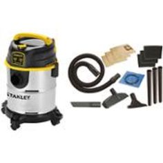 Stanley Bundle Wet Dry Stainless Steel Shop Vacuum & 252 Piece MechanicTool Kit