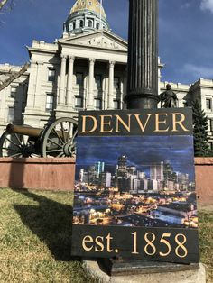 Beautiful way to sum up Denver. Art show quality one off piece. Ultra high def uv printed picture on rough wood with an engraved header and footer. If you are interested in customizing this piece any high def photo could be utilized and any text could be carved into the header and footer. This would make a great family photo or a best friends personilezed and meaningful wall piece.  Made in Colorado with love and care. We have the saw dust to prove it!  Colors are better represented on our…