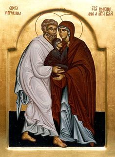 The Magnificent Feast of Saints Anne and Joachim, parents of the Blessed Mother Religious Images, Religious Icons, Saint Joachim, Monastery Icons, Christian Artwork, Santa Ana, Jesus Christus, Picture Icon, Immaculate Conception