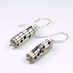 Music Jewelry Recycled Sheet Music Earrings Paper Bead by Tanith