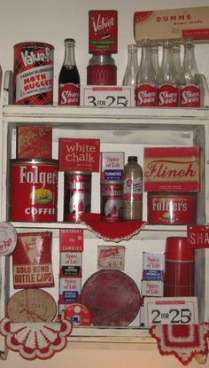 I really want a vintage kitchen, something like this would be great wall or shelf decor.
