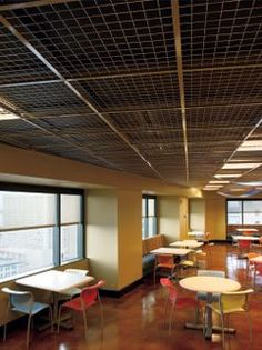 Commercial metal ceiling tiles from Armstrong Ceiling Solutions include metal panels, planks, canopies, acoustical & custom solutions. Explore all metal commercial ceiling systems. Drop Ceiling Panels, Drop Down Ceiling, Dropped Ceiling, Ceiling Plan, Home Ceiling, Ceiling Ideas, Garage Interior, Hall Interior, Interior Ideas