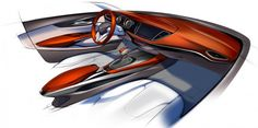 2016 Opel Astra - Interior Design Sketch link: