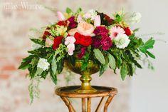 Bold boho blooms for a wedding! COLOURFUL BOHO-INDUSTRIAL WEDDING THEME  www.elegantwedding.ca