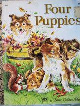 Little Golden Book Four Puppies Collies