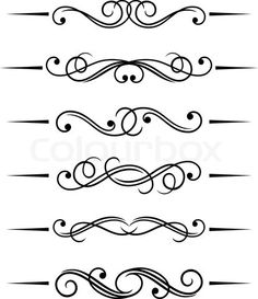 Stock vector of 'Swirl elements and monograms for design and decorate' $10