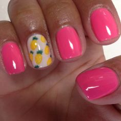 Pineapple nail art design