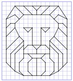 Discover recipes, home ideas, style inspiration and other ideas to try. Graph Paper Drawings, Graph Paper Art, Easy Drawings, Blackwork Patterns, Blackwork Embroidery, Geometric Drawing, Geometric Shapes, Barn Quilt Patterns, Math Art