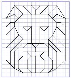 Reproduction Sur Quadrillage - Lion 2