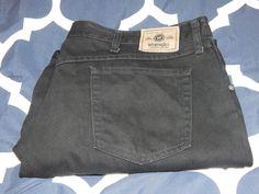 WRANGLER  97601CB 5 Pocket Premium Relaxed Fit Jeans  Black Denim Men's 44x30 #Wrangler #Relaxed