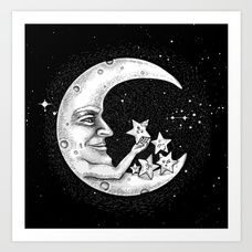 the Moon - Star doctor Art Print