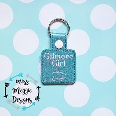 Gilmore Girl Coffee snaptab ITH Embroidery