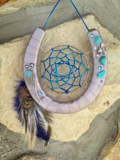 Horse shoe dream catcher #horseshoe #cowgirl #western for auntie kari!!