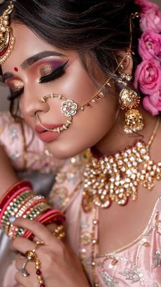 These Dusky Bridal Makeup Looks & Tips Are A Fresh Dose Of Inspirations Loading. These Dusky Bridal Makeup Looks & Tips Are A Fresh Dose Of Inspirations Bridal Makeup Images, Bridal Eye Makeup, Bridal Makeup Looks, Bride Makeup, Bridal Looks, Indian Makeup Looks, Indian Wedding Makeup, Indian Eye Makeup, Indian Bridal Photos