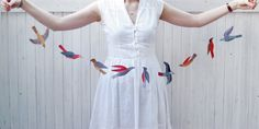 illustrated bird garland by kayeblegvad on Etsy