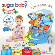 Take Baby Shoppee: PROMO Sugar Baby Bouncer 3 Recline Great Beach day...