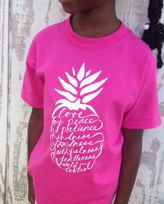 Fruit of the Spirit Pineapple Print Kids Tee Wow by OhTinyGifts