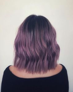 These 19 Dark Purple Hair Color Ideas Are Giving Us Hair Envy - Hairs Purple Brown Hair, Dark Purple Hair Color, Light Purple Hair, Golden Brown Hair, Dyed Hair Purple, Brown Hair With Blonde Highlights, Lilac Hair, Light Brown Hair, Hair Highlights