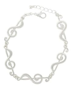 "New  Fashion Music Note Bracelet In Silver Tone NOT FOR CHILDREN UNDER 12 With No Tags Type: Bracelet Size:  Approximately 7.5"" Long  Condition: New Never Worn Free Delivery No International Shipping"