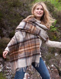Lambswool Tartan Stole, from Celtic  Co