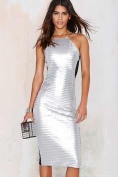 Nasty Gal Glam Doll Sequin Bodycon Dress