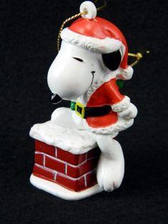 Whitman's Sampler ornament - Snoopy on chimney