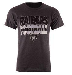 92acc1a5cff Oakland Raiders Majestic L Large Cover 3 Triple Peak Heather Charcoal  T-Shirt  Majestic