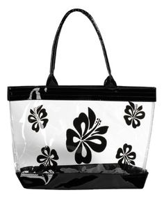 Women Transparent Printed Beach Casual Shoulder Tote Bag