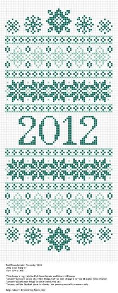 free new year band sampler cross stitch