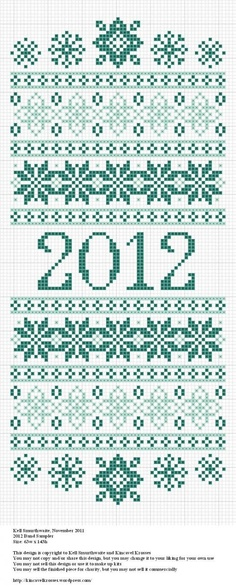 free new year band sampler cross stitch