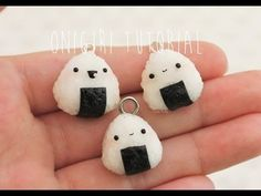 Polymer Clay Tutorial Kawaii Onigiri/Riceball Charms