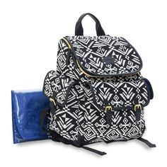 Product Image for carter's® Baby Go Aztec Backpack Diaper Bag in Black/White 1 out of 2