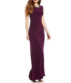 Vince Camuto BeadEmbellished Neck Gown #Dillards