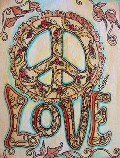 Image detail for -Henna Peace Singleton Hippie Art Original by justgivemepeace Hippie Peace, Happy Hippie, Hippie Love, Hippie Chick, Hippie Style, Hippie Things, Hippie Kids, 1970s Hippie, Peace On Earth