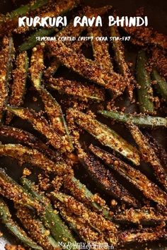 Crispy Okra Fry or Kurkuri Rava Bhindi is a crispy crunchy appetizer for your tea time. This can be your side dish also. Okra is coated with rava or semolina that makes it crispy. Okra Recipes, Snack Recipes, Cooking Recipes, Appetiser Recipes, Aloo Recipes, Gourmet Cooking, Cooking Hacks, Cooking Videos, Cooking Tools