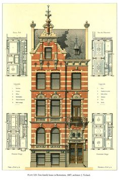 [Design for a Two-family House, Rotterdam]