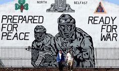 A UVF Wall mural in north Belfast. Photograph: Paul Faith/PA Wire