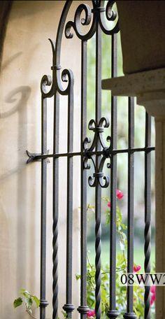 No iron details Iron Window Grill, Window Grill Design, Reforma Exterior, Window Bars, Balcony Grill, Iron Windows, Wrought Iron Doors, Iron Art, Gate Design