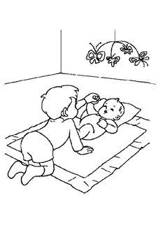 Coloriage d un petit b b avec sa t tine coloriages naissance et b b s bebe coloriage et - Lulu l escargot coloriage ...