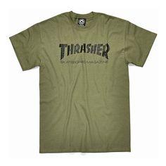 Thrasher Skate Mag Tee Shirt Army Green