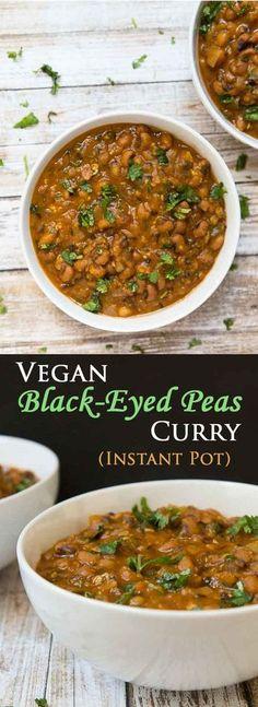 Vegan Indian Black Eyed Peas Recipe (Instant Pot) #curry #vegan #glutenfree #instantpot #indian | Vegetarian Gastronomy | www.VegetarianGastronomy.com