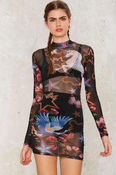Jaded London Unicorn Mini Dress - Streetwear | Bodycon Dresses