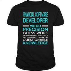 FINANCIAL SOFTWARE DEVELOPER - WEDO OLD - #teespring #shirt designs. PURCHASE NOW => https://www.sunfrog.com/LifeStyle/FINANCIAL-SOFTWARE-DEVELOPER--WEDO-OLD-Black-Guys.html?60505