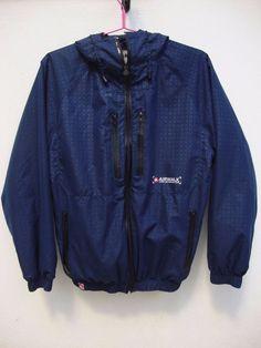 Airwalk Men s Small Hooded Jacket Blue Geometrical Design