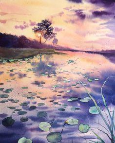 Les aquarelles lumineuses de Dina Lepchenkova  Dessein de dessin