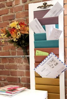 DIY Home Decor: DIY Window Shutter Mail Sorter