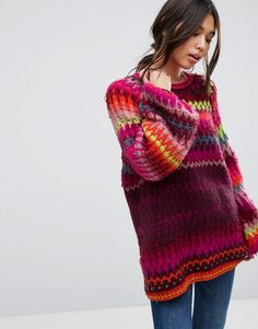 Buy Free People Castles in the Sky Jumper at ASOS. With free delivery and return options (Ts&Cs apply), online shopping has never been so easy. Get the latest trends with ASOS now. Jumpers For Women, Cardigans For Women, Castle In The Sky, Wooly Jumper, Oversized Jumper, Free People, Denim And Supply, Knit Fashion, Knitting Designs