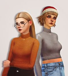 turtleneck sweater i know most of you don't need a sweater right now but winter just started here and it's freezing !!! so yeah, have another sweater. new mesh edit, includes 10 swatches. ps. shoutout...